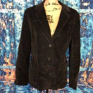 Vtg Levi's jrs sz m corduroy black blazer 2 button